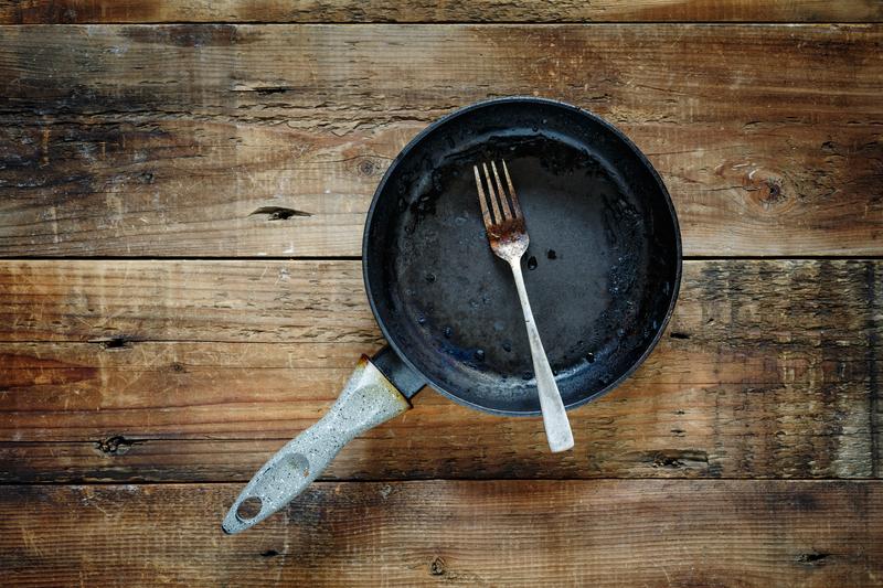 Aangebrande pan schoonmaken