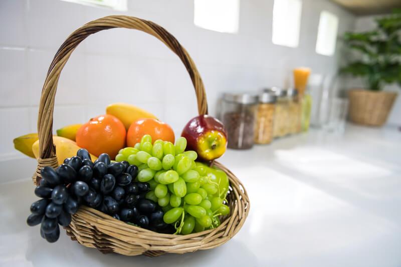 Groenten en fruit opbergen