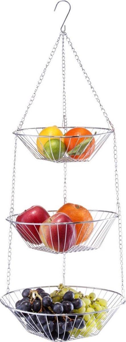 Zilveren ronde fruitschaal
